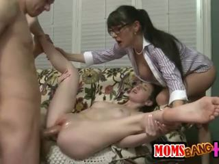 Granny MILF gets lucky with Alexandra Silk