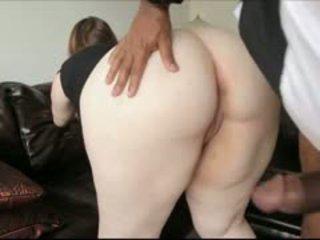 Seksowne blady grubaska assfucked przez a duży czarne kutas