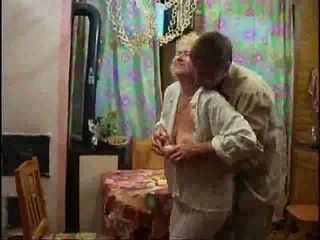 Mature blonde naked and forcing cock d...