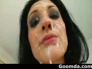 cumshots, péče o obličej