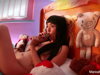 Japanese Starlet Marica Hase Plays with Candy Cock: Porn 02