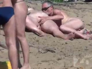 succhiare, voyeur, spiaggia