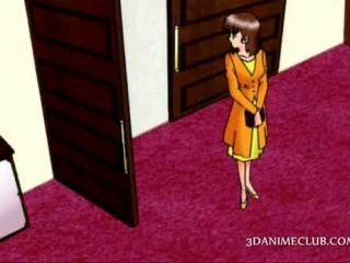Anime hottie turned par pēc duša jumps par a pusaudze guy