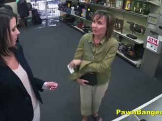 Cheeky shop owner bangs customer's burungpun