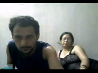 Indian mature couple mr and mrs gupta in webcam