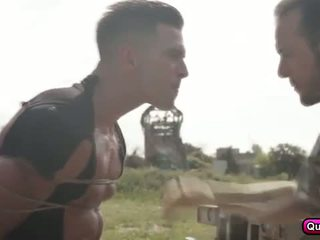 military, blowjob, outdoors