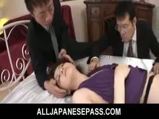 Rina koizumi forró ázsiai modell -ban szexi harisnya gets szar