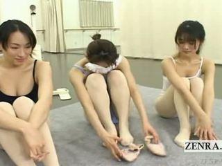 Subtitled enf japonez ballerinas stark gol stripping