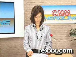Nachrichten reporter gets bukakke während sie arbeit (maria ozawa bu