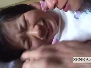 Japoni nxënëse licked të gjithë mbi english subtitles