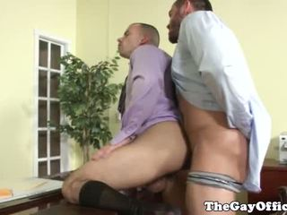 Gay office jock getting ass fucked