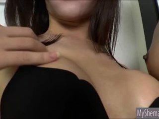 Thai ladyboys Nicole and Bee anal toying