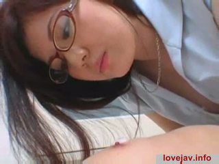 japānas, licking, brilles