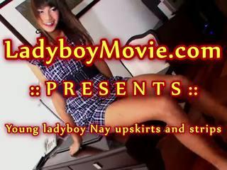 Ladyboy nay strips un strokes