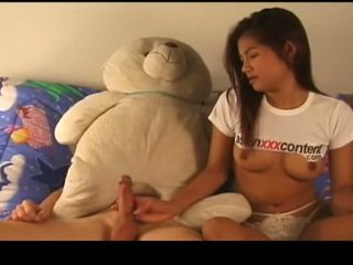Thailändska nymph has körd ström