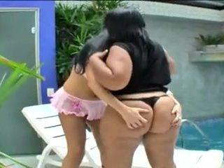 brésilien, gros seins, lesbiennes