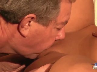 Step dad caught young secretary masturbating