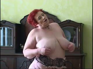 Fat granny masturbating 3