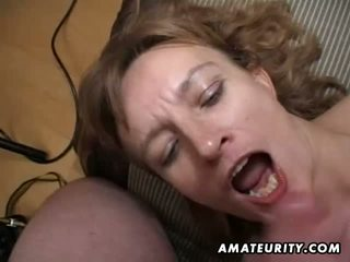 Amateur Milf gets her ass and pussy toyed and cum