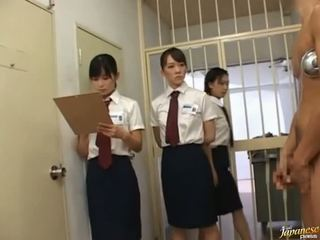 Japanska av modell i en piss video-