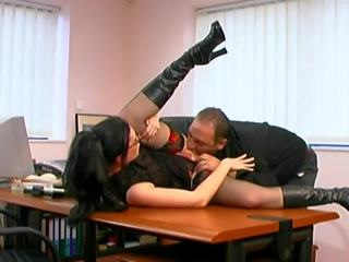 Tired Boss Fucks His Young Secretary Right On The Table