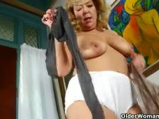 granny, solo, nipples