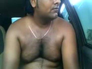 สมัครเล่น อินเดีย คู่ ร่วมเพศ ข้างใน parked รถยนตร์