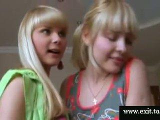 Gorgeous Blonde teens Ass Finger play Video