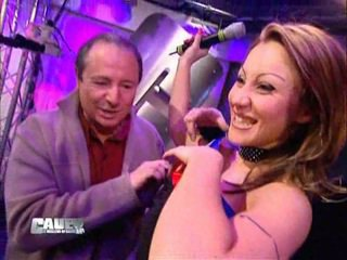 Miss France show her tits on TV