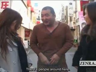 Subtitled veřejné japonská extrémní transvestité femdom