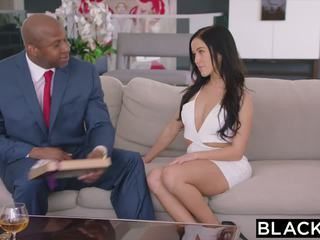 Blacked Megan Rain gets Dpd by Sugar Daddy and His.