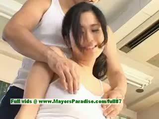 Sora aoi vroče punca lovely kitajka model enjoys getting teased