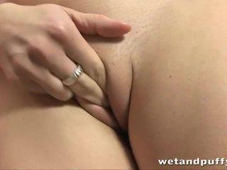 close up, orgasm, clitoris, cumming, shaved pussy, clit