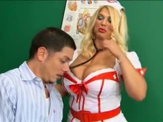 White Stockings Nurse Big Tits Fucking