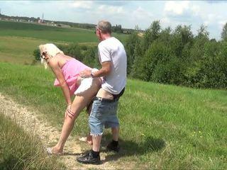 crossdresser, outdoor, blonde