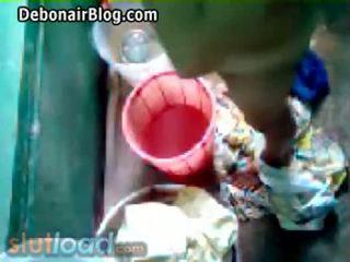 Bengali mama bath captured s sin (real)