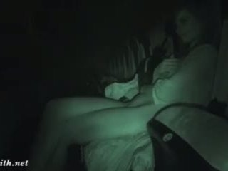 Jeny smith undresses a film theater
