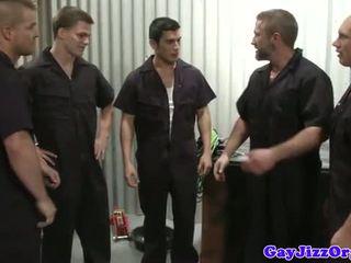 Cumshot loving mechanics in workshop fucking