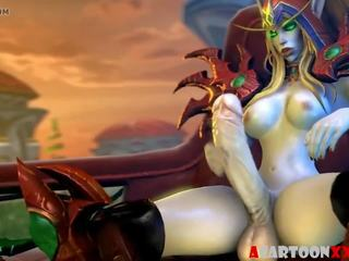 Warcraft putė hammering ir futanari seksas: nemokamai hd porno 5d
