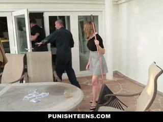 Punishteens - spoiled brat gets geneukt door daddy's workers