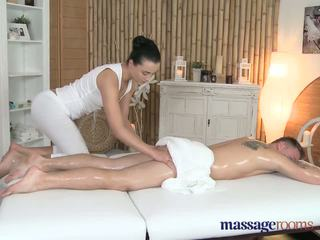 Massage Rooms Teen beauty gets a hard pounding and bum covered in cum