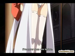 Princess Anime Threesome Assfucking With Pig Monster