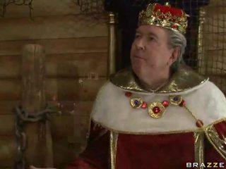 Królowa giving głowa, jako the król lewo do zobaczyć