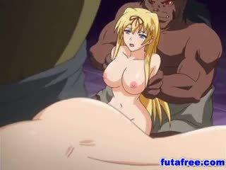 Blondýnka futagirl gets ji holes pumped