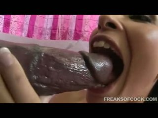 Sweet Looking Babe Tristan Kingsley Nicely Sucks A Monster Darksome Cock