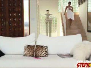 Huge Boobs Ada Sanchez Shares Cock To Stepmom Diamond Kitty