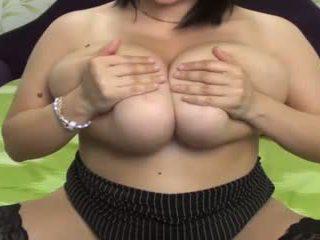 grote borsten, webcams, masturbatie