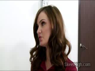 porno, brünette, niedlich