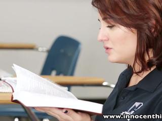 InnocentHigh Young innocent brunette student bangs her horny teacher