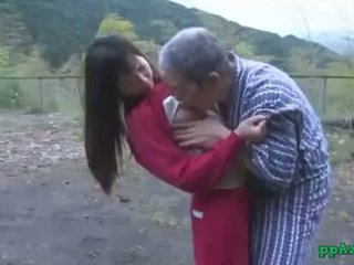 Asia prawan getting her burungpun licked and fucked by old man cum to bokong ruangan at